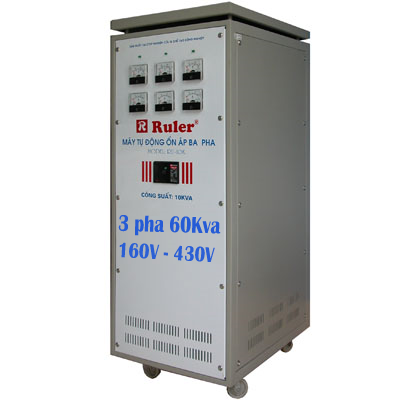 Ổn áp Ruler 3 pha 60Kva dải điện áp 160V - 430V