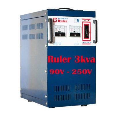 Ổn áp Ruler 3Kva điện áp 90V - 250V