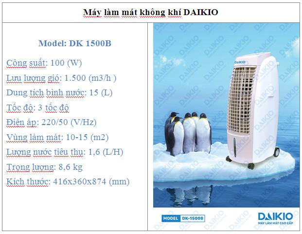 Máy làm mát DAIKIO DK-1500B