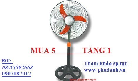 MUA 5 TẶNG 1. Khuyến mãi đặc biệt quạt Asia mã A16008
