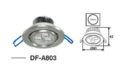 Đèn led âm trần 3W DF-A803