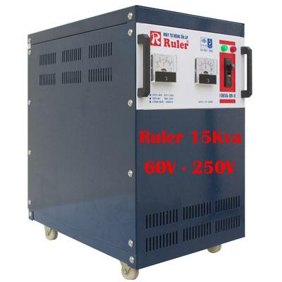 Ổn áp Ruler 15kva dải điện áp 60V - 250V