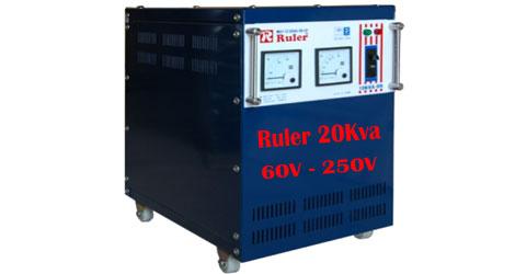 Ổn áp Ruler 20Kva dải điện áp 60V - 250V