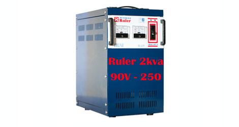 Ổn áp Ruler 2Kva dải điện áp 90 - 250V