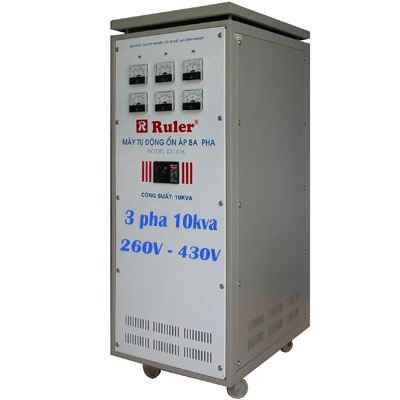Ổn áp Ruler 3 pha 10Kva dải 260V - 430V