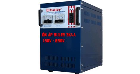 Ổn áp Ruler 3KVa dải điện áp 150V - 250V