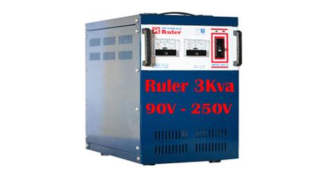 Ổn áp Ruler 3Kva dải điện áp 90V - 250V
